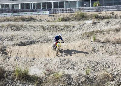 Zona de sabre y arena en el circuito