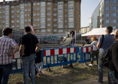 Público asistiendo a las exhibiciones de skate