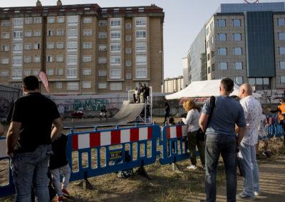 Numerosos participantes estuvieron disfrutando de la pista de skate durante todo el fin de semana