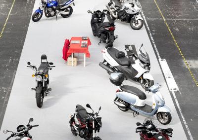 Un pequeña muestra de motos en el Stand de Basic-Club