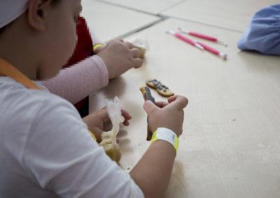 Galletas hechas en el taller de cocina infantil de Gadis