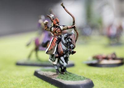 Arquero a caballo en miniatura