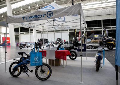 Stand de la firma Torrot, fabricante de vehículos eléctricos