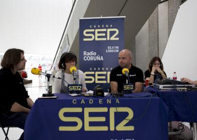 Diversos expositores fueron entrevistados durante las emisiones en directo de la Cadena Ser